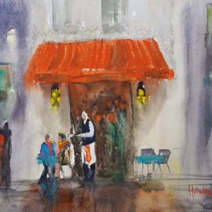 Paris Cafe After The Rain